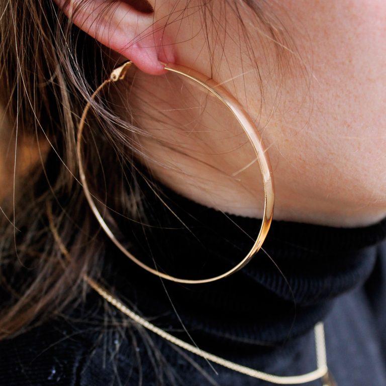 About Jackie J hoop earring